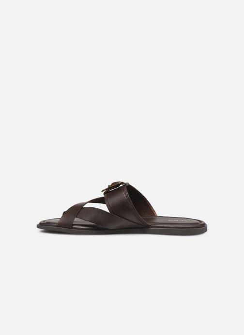Sandales et nu-pieds Aldo BAECCI Marron vue face