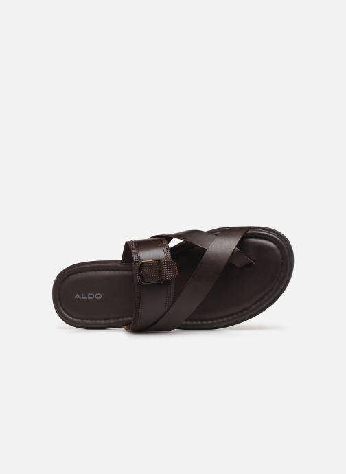 Sandales et nu-pieds Aldo BAECCI Marron vue gauche
