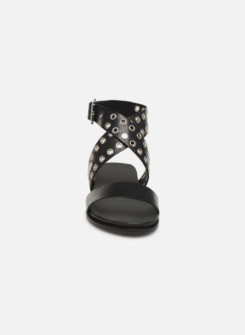 Sandales et nu-pieds Les Tropéziennes par M Belarbi GAYO Noir vue portées chaussures
