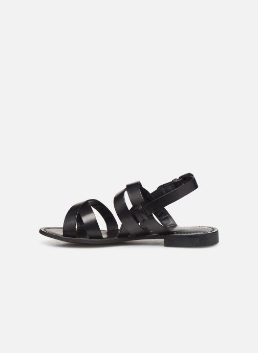 Sandales et nu-pieds Les Tropéziennes par M Belarbi MALINE Noir vue face