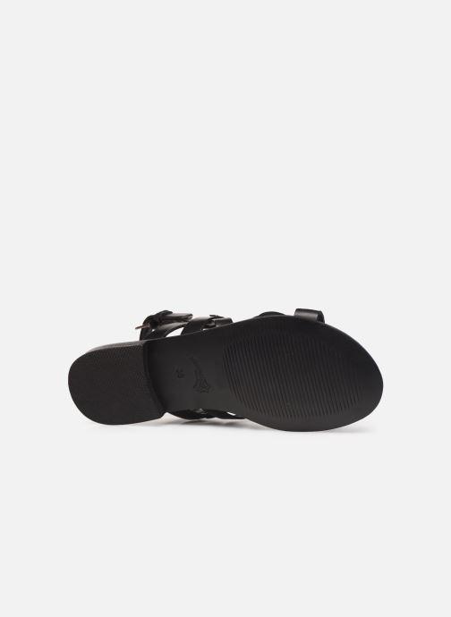 Sandales et nu-pieds Les Tropéziennes par M Belarbi MALINE Noir vue haut
