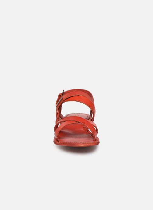 Sandales et nu-pieds Les Tropéziennes par M Belarbi MALINE Rouge vue portées chaussures
