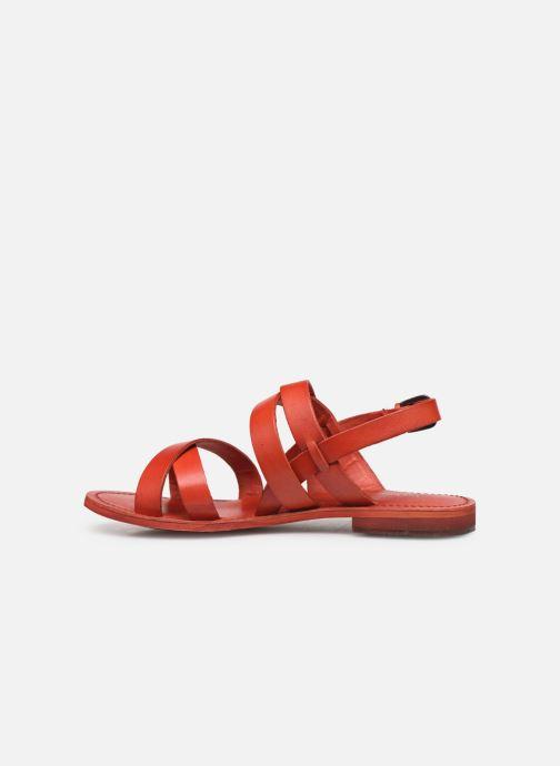 Sandales et nu-pieds Les Tropéziennes par M Belarbi MALINE Rouge vue face