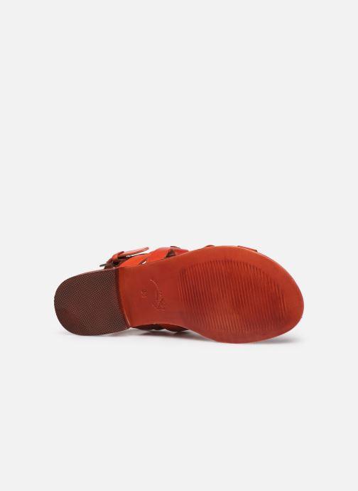 Sandales et nu-pieds Les Tropéziennes par M Belarbi MALINE Rouge vue haut