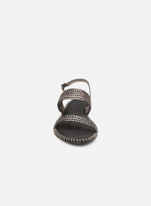 Sandales et nu-pieds Les Tropéziennes par M Belarbi ORIANO Argent vue portées chaussures