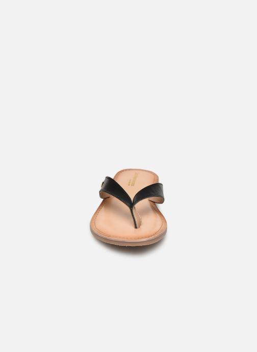 Tongs Les Tropéziennes par M Belarbi NISHINA Noir vue portées chaussures