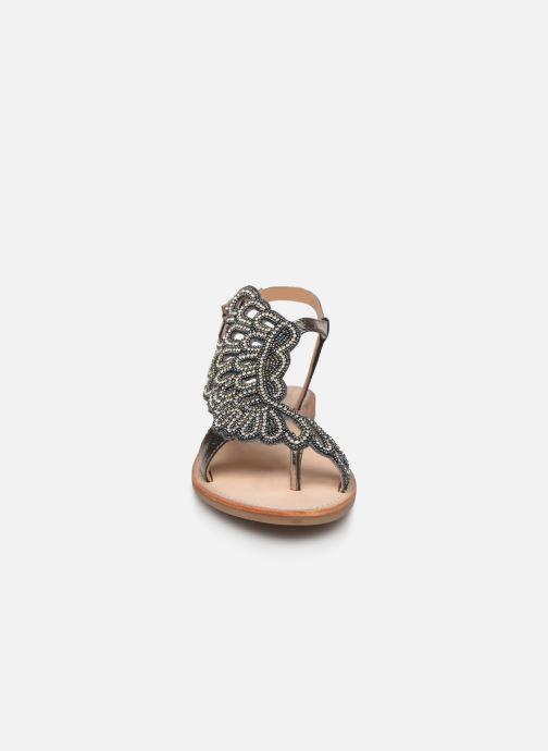 Sandales et nu-pieds Les Tropéziennes par M Belarbi OGGY Argent vue portées chaussures