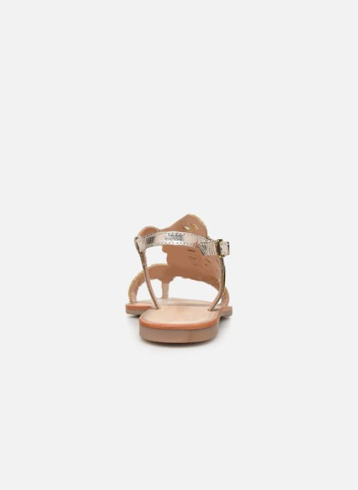 Sandales et nu-pieds Les Tropéziennes par M Belarbi OGGY Or et bronze vue droite