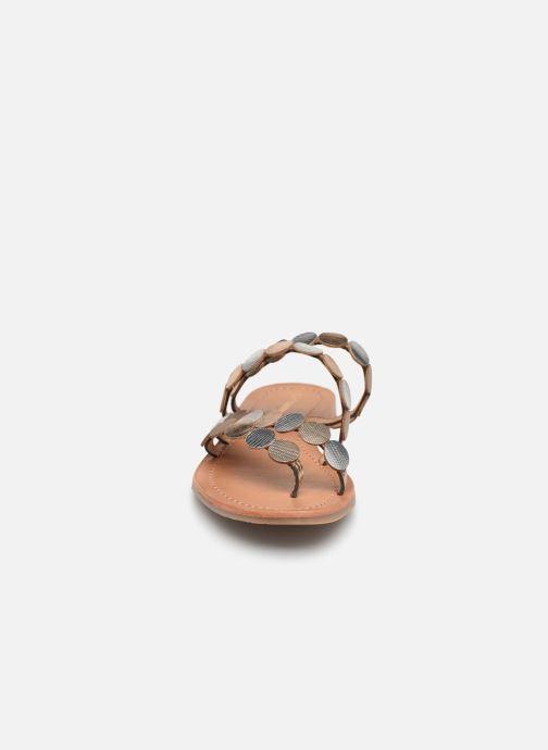 Mules et sabots Les Tropéziennes par M Belarbi HOROND Or et bronze vue portées chaussures