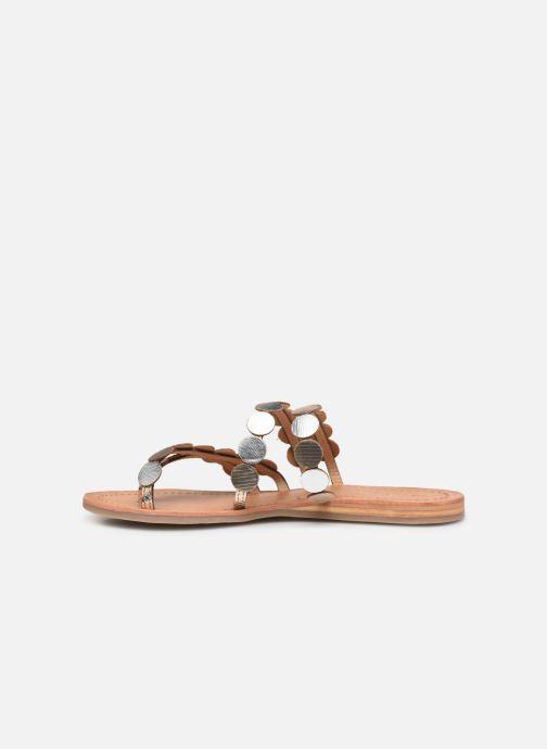 Mules et sabots Les Tropéziennes par M Belarbi HOROND Or et bronze vue face