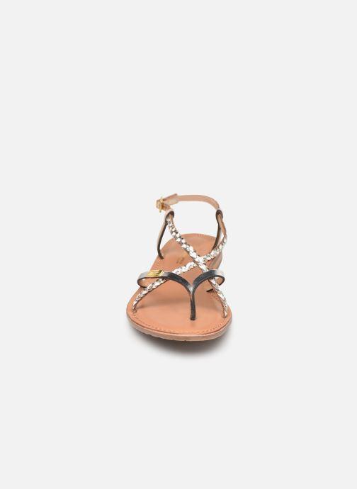 Sandales et nu-pieds Les Tropéziennes par M Belarbi MONATRES Blanc vue portées chaussures