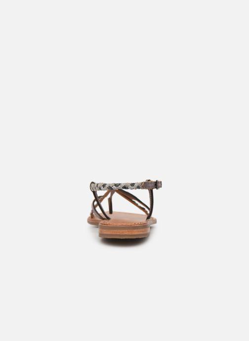 Sandalias Les Tropéziennes par M Belarbi MONATRES Plateado vista lateral derecha