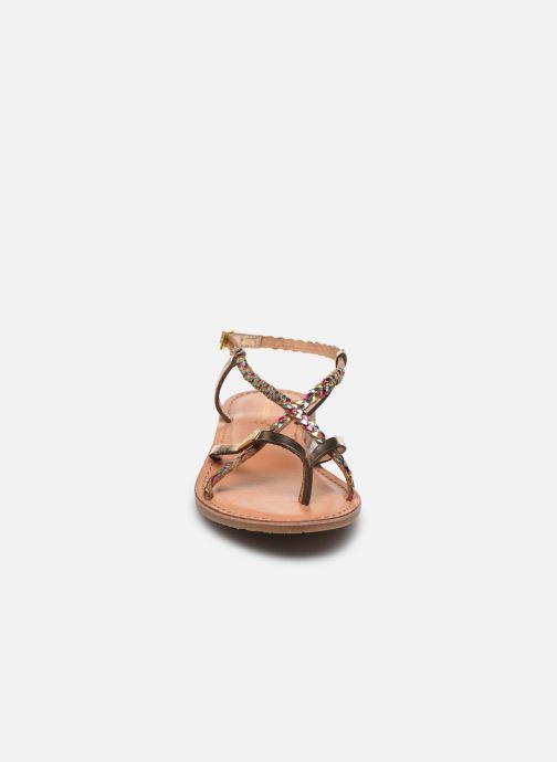 Sandales et nu-pieds Les Tropéziennes par M Belarbi MONATRES Or et bronze vue portées chaussures