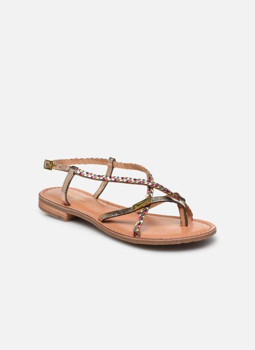 Sandales et nu-pieds Les Tropéziennes par M Belarbi MONATRES Or et bronze vue détail/paire