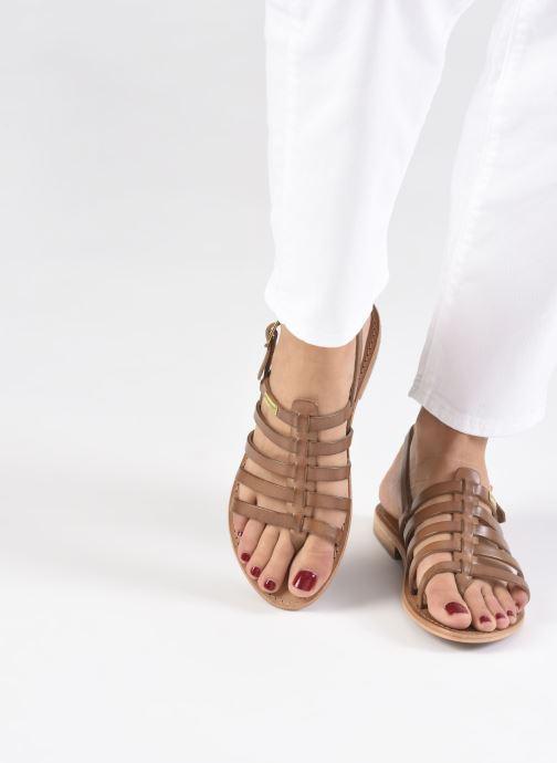 Sandales et nu-pieds Les Tropéziennes par M Belarbi HERIBERI Marron vue bas / vue portée sac
