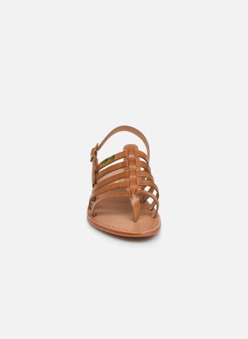Sandales et nu-pieds Les Tropéziennes par M Belarbi HERIBERI Marron vue portées chaussures