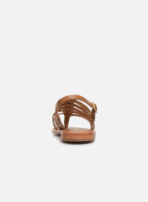 Sandales et nu-pieds Les Tropéziennes par M Belarbi HERIBERI Marron vue droite
