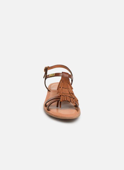 Sandales et nu-pieds Les Tropéziennes par M Belarbi BELIE Marron vue portées chaussures