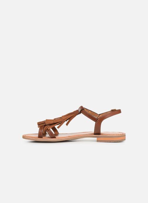Sandales et nu-pieds Les Tropéziennes par M Belarbi BELIE Marron vue face