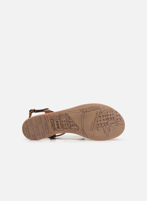 Sandales et nu-pieds Les Tropéziennes par M Belarbi BELIE Marron vue haut