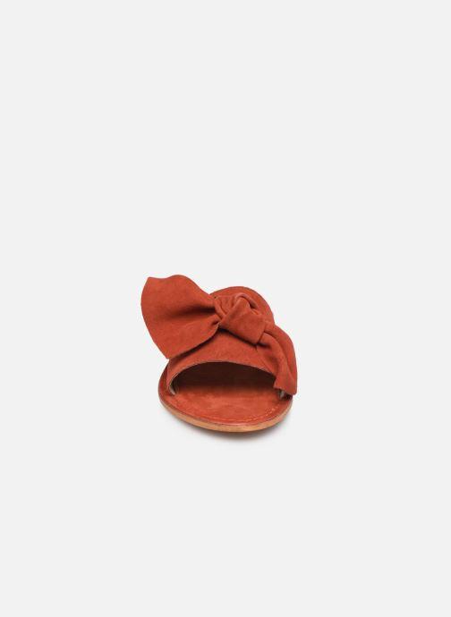 Mules et sabots Les Tropéziennes par M Belarbi DIXON Rouge vue portées chaussures