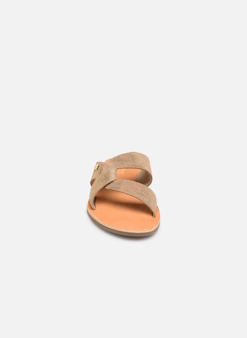 Mules et sabots Les Tropéziennes par M Belarbi PLACIDE Or et bronze vue portées chaussures