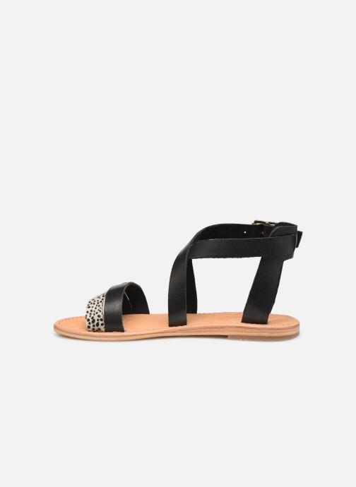 Sandales et nu-pieds Les Tropéziennes par M Belarbi PIPA Noir vue face