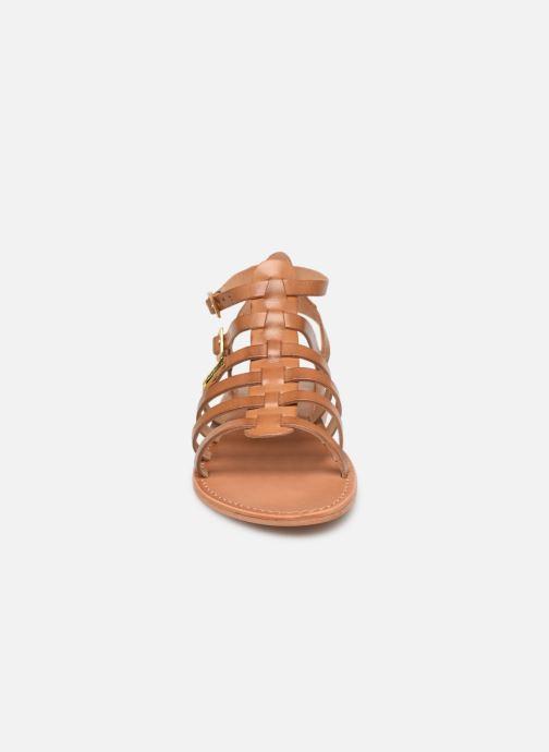 Sandales et nu-pieds Les Tropéziennes par M Belarbi HIRECA Marron vue portées chaussures