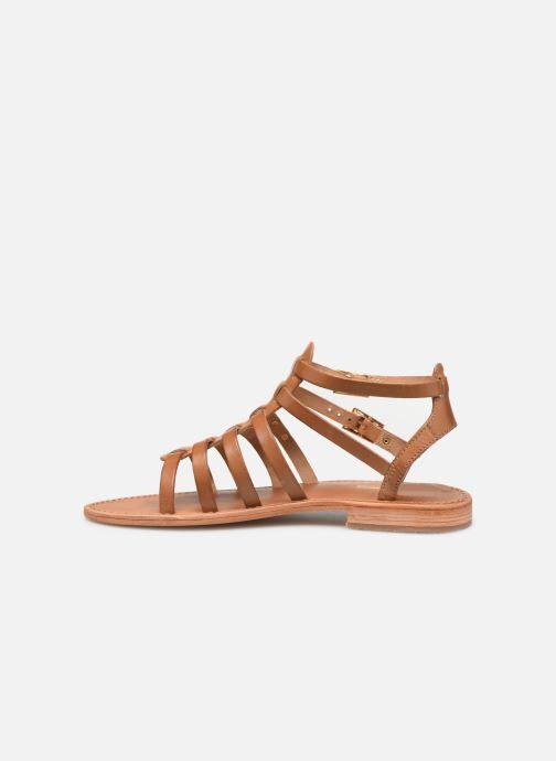 Sandales et nu-pieds Les Tropéziennes par M Belarbi HIRECA Marron vue face