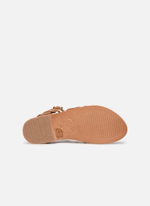 Sandales et nu-pieds Les Tropéziennes par M Belarbi HIRECA Marron vue haut