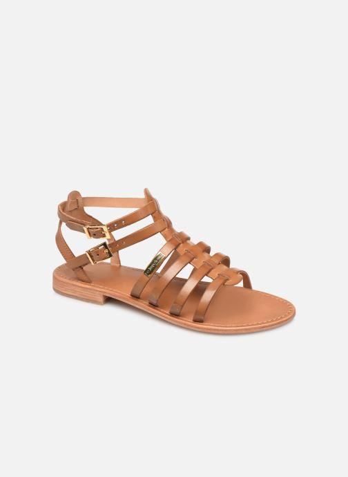 Sandales et nu-pieds Les Tropéziennes par M Belarbi HIRECA Marron vue détail/paire