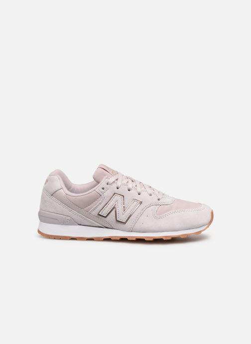 Sneaker New Balance W996 rosa ansicht von hinten