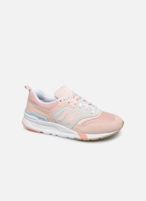 Baskets New Balance W997 Rose vue détail/paire