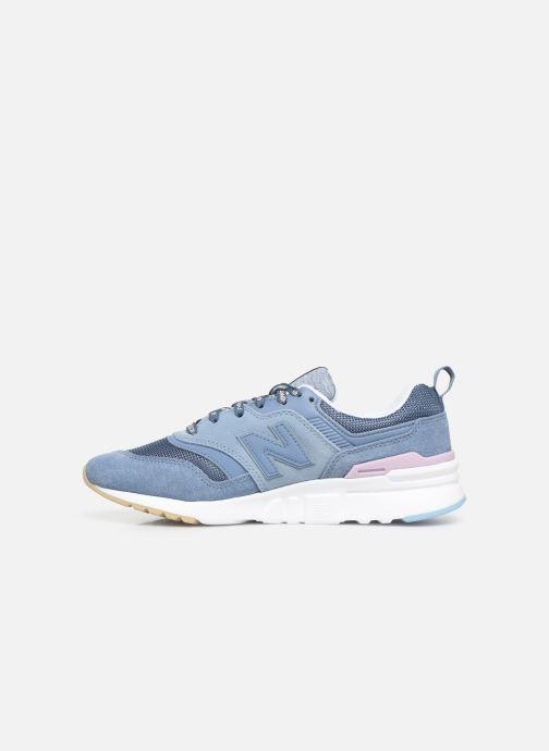 Sneakers New Balance W997 Blauw voorkant