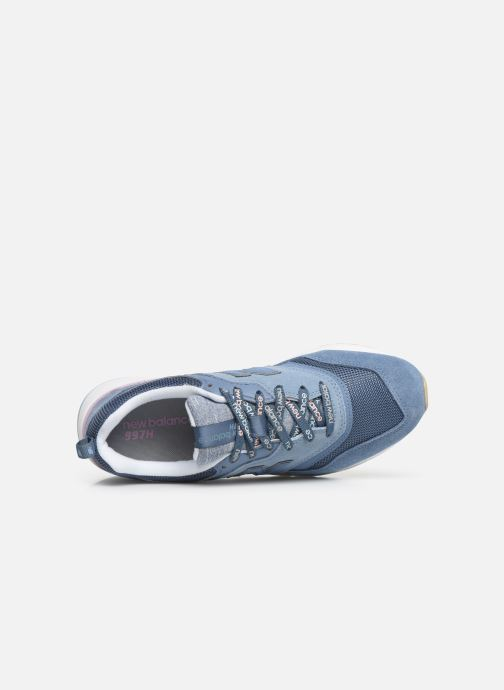 Sneakers New Balance W997 Blauw links