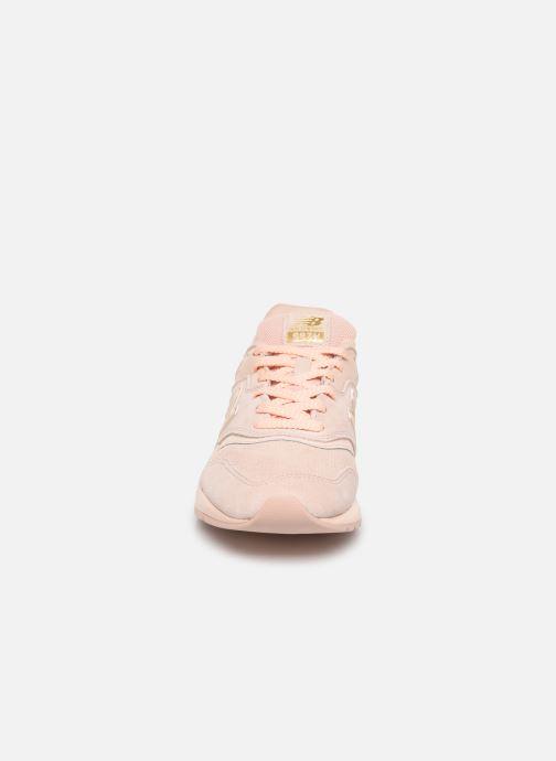 Sneaker New Balance W997 rosa schuhe getragen