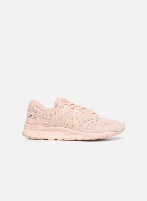 Sneaker New Balance W997 rosa ansicht von hinten