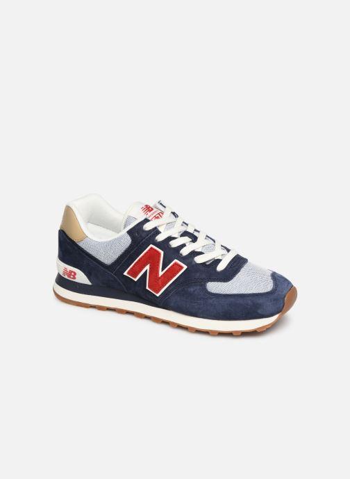 Sneakers New Balance 574 Blå detaljerad bild på paret