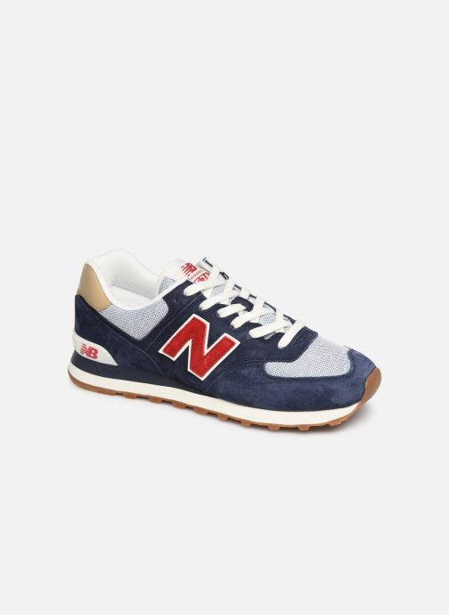 Trainers New Balance 574 Blue detailed view/ Pair view