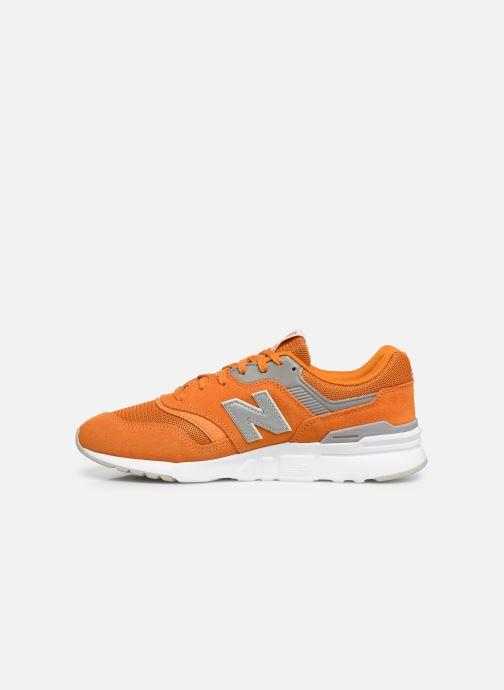 Deportivas New Balance 997 Naranja vista de frente