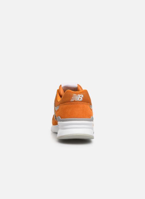 Baskets New Balance 997 Orange vue droite