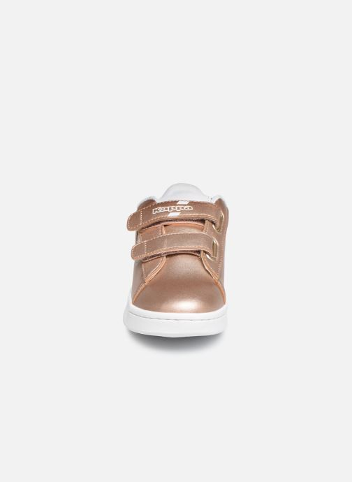 Baskets Kappa Tchouri V Or et bronze vue portées chaussures