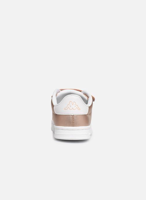 Baskets Kappa Tchouri V Or et bronze vue droite