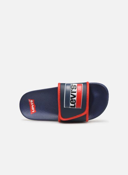 Sandales et nu-pieds Levi's Game Bleu vue gauche