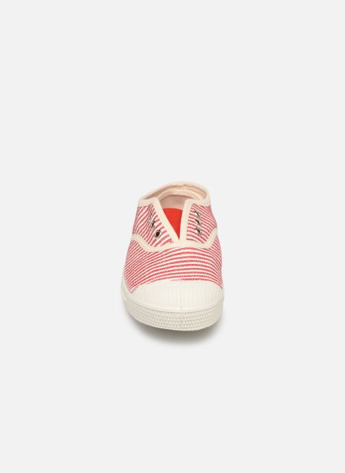 Baskets Bensimon Tennis Elly Rayure E Rouge vue portées chaussures