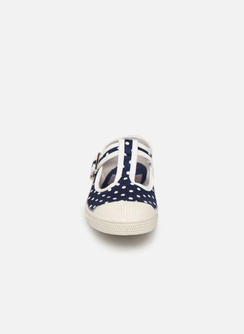 Baskets Bensimon Tennis Salomé Pois E Bleu vue portées chaussures