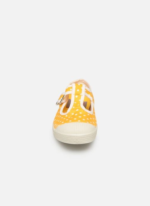Baskets Bensimon Tennis Salomé Pois E Jaune vue portées chaussures