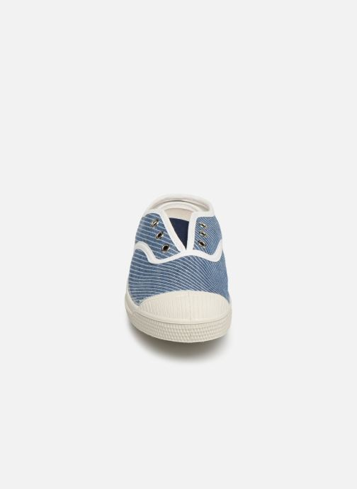 Baskets Bensimon Tennis Elly Denim Rayure E Bleu vue portées chaussures