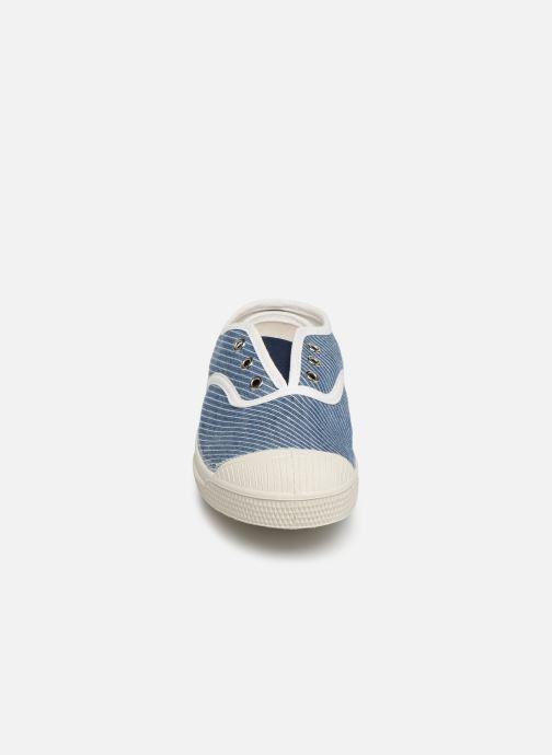 Sneakers Bensimon Tennis Elly Denim Rayure E Azzurro modello indossato