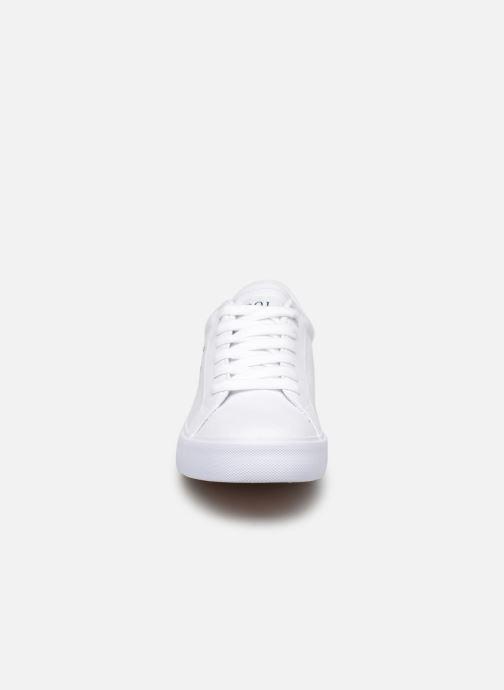Baskets Polo Ralph Lauren Edgewood Blanc vue portées chaussures